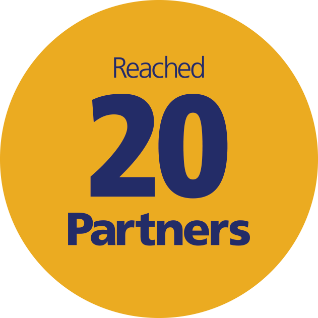 Reached 20 partners