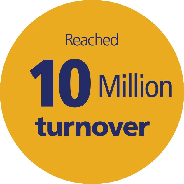 Reached 10 Million turnover