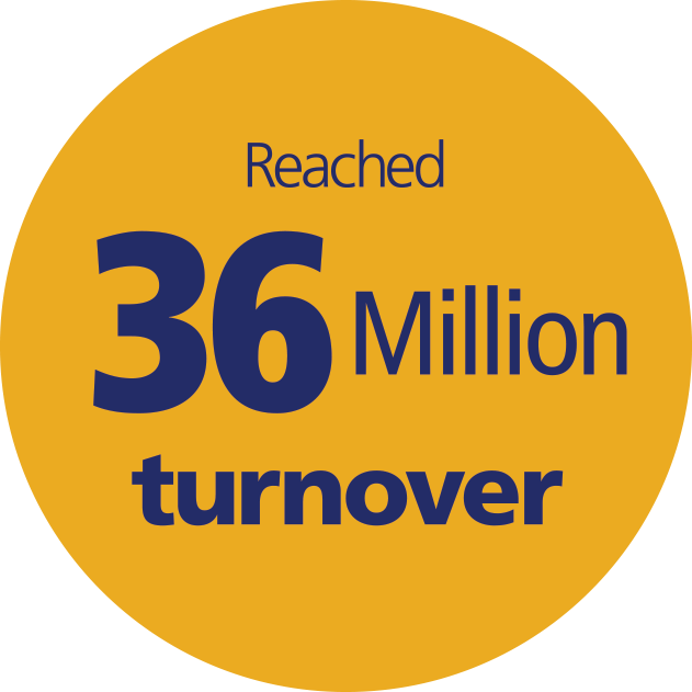Reached 36 million turnover