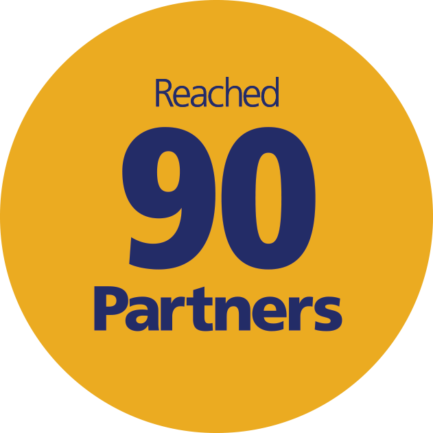 Reached 90 Partners