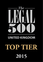 Legal 500 2015 Top Tier firm