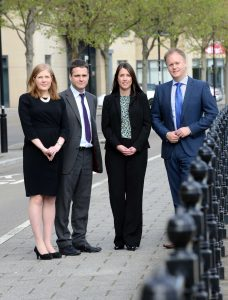 On the up – newly promoted Partners at Ward Hadaway (from left) Heather Markham, Bill Goodwin, Sharon Mathieson and Andrew Evans.