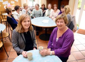 Property help – (from left) Heather Markham of Ward Hadaway with Angela Oxberry of Women's Health in South Tyneside.