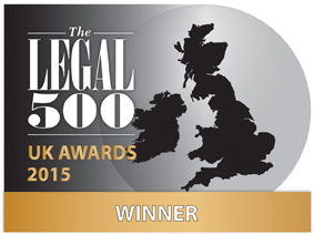 Legal 500 2015 UK Awards Winner