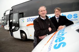 Moving up a gear – (from left) Andrew Scott, director at Stanley Travel with Alex Wright, Property Partner at law firm Ward Hadaway who advised Stanley Travel on its acquisition of a second depot.