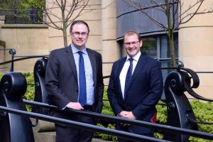 Promotion success – (from left) Robert Rushton and James Nightingale have both been promoted to Partner at law firm Ward Hadaway.