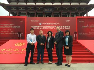 Far East opportunities – (from third left) Elaine Chan and Colin Hewitt of Ward Hadaway with (second from left) Chen Li, Trade Finance Director of Shaanxi Material Non Ferrous Metals Co Ltd and (far left and far right) representatives from Bank of China.