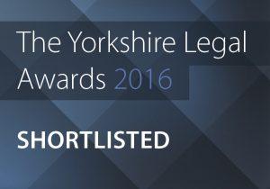 Yorkshire Legal Awards Shortlisted logo