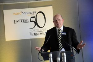 The search begins – Colin Hewitt, Partner and Head of Commercial at Ward Hadaway, at last year's Ward Hadaway Fastest 50 Awards.