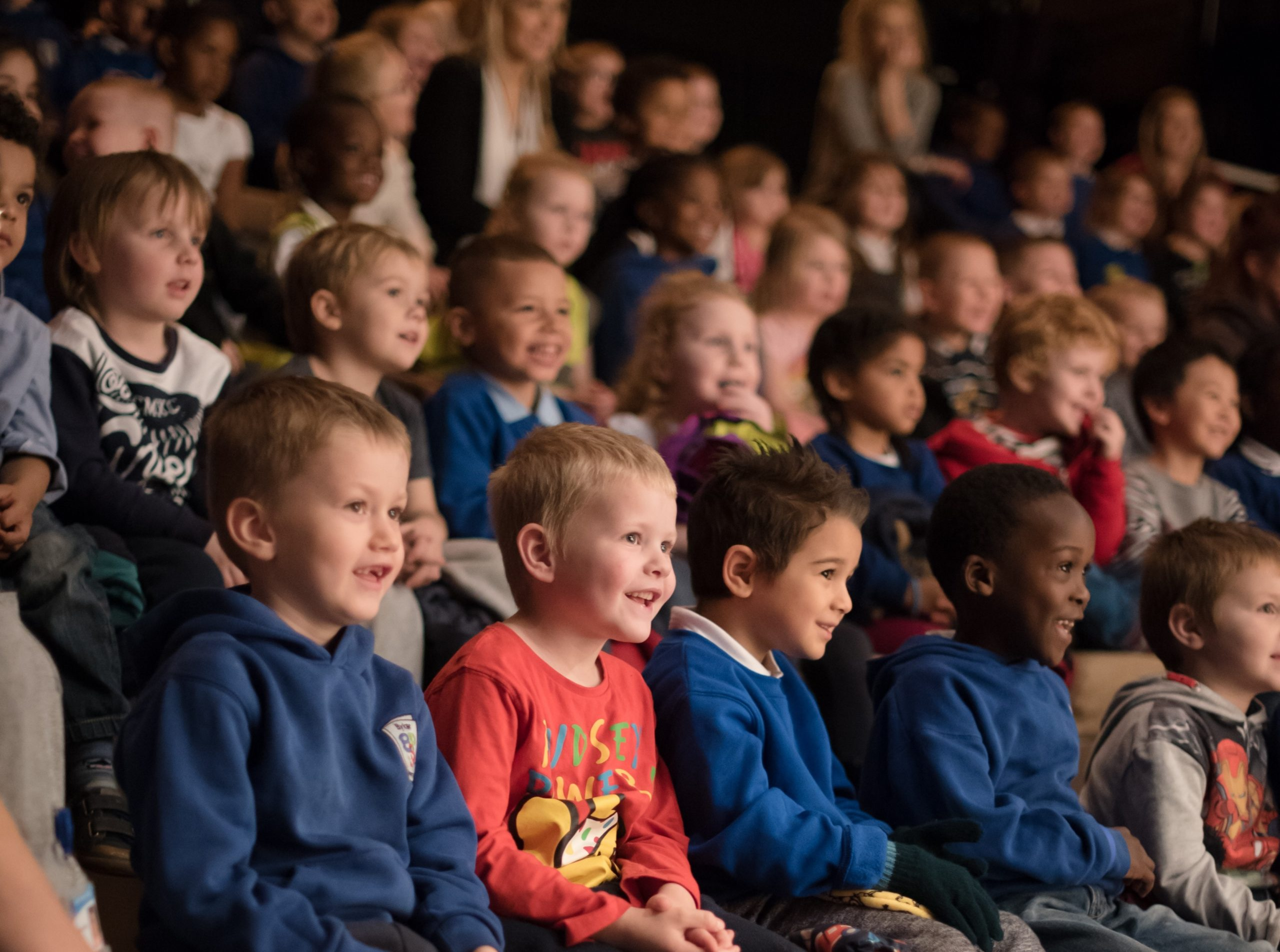 Children watching a show - Northern Stage