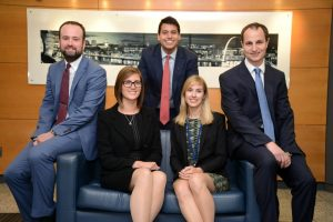 On the up – promoted Associates at Ward Hadaway (from left) Nathan Bilton, Steph Rodgers, Nick Gholkar, Flora Mewies and Neil Willamson.